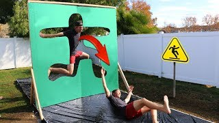 Jumping through Slippery Impossible Shapes!!