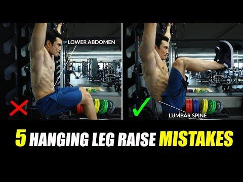 5 Dangerous HANGING LEG RAISE Mistakes [Six pack Abs] तुरंत रोकें