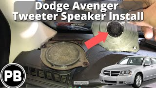 2007 2014 dodge avenger tweeter replacement install