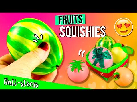 DIY Fruits & Vegetables SQUISHIES 🍎 🍑  Peach, Watermelon, Lemon, Tomato & Eggplant SQUISHY🍊 🍋 🍆