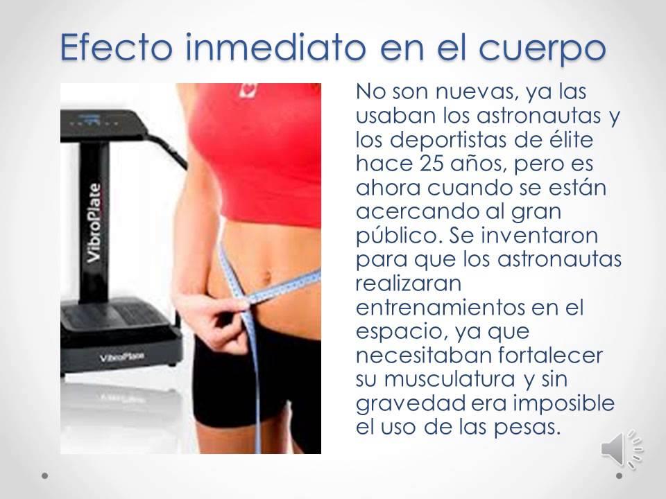 Plataforma vibrante ejercicios para adelgazar en espanol