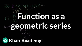 Function as geometric series