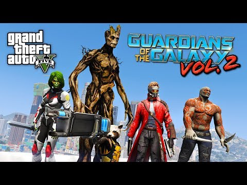 GUARDIANS OF THE GALAXY 2!! (GTA 5 Mods)