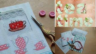 Обзор на набор для изготовления открытки с вышивкой