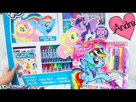 Juego GIGANTE de colorear de My Little Pony y libro para diseñar MLP ponies - Juguetes de colorear