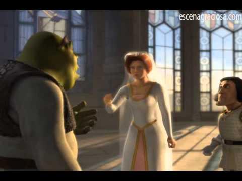 Escena Graciosa de ''Shrek 1''- El Ogro se enamora de la Princesa