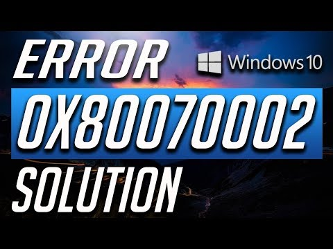 How to fix .NET Framework 3.5 Error 0x80070002 in Windows 10