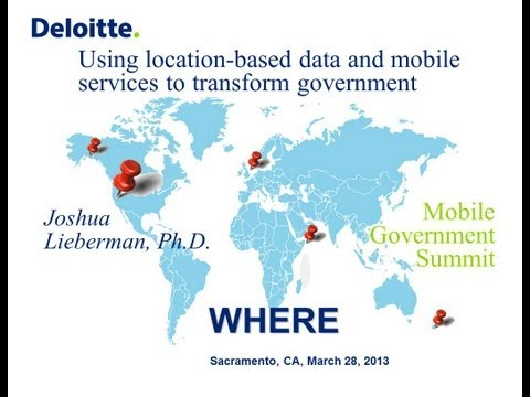 GIS Solutions: Transforming Govenment with Location-based Data & Mobile Services - A PSP Forum