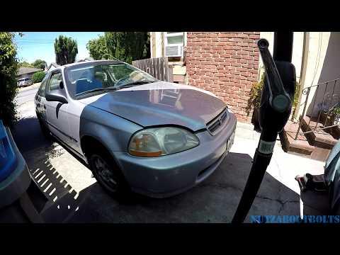 1996-2000 Honda Civic front bumper removal