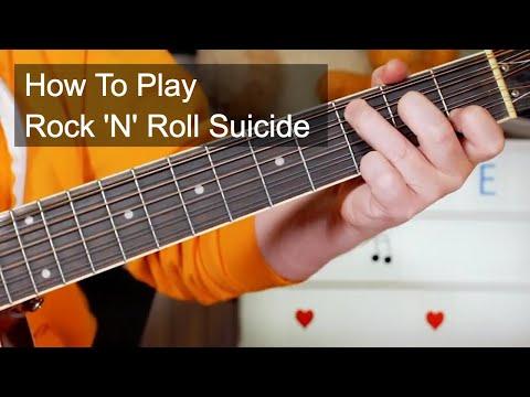 'Rock & Roll Suicide' David Bowie Acoustic Guitar Lesson