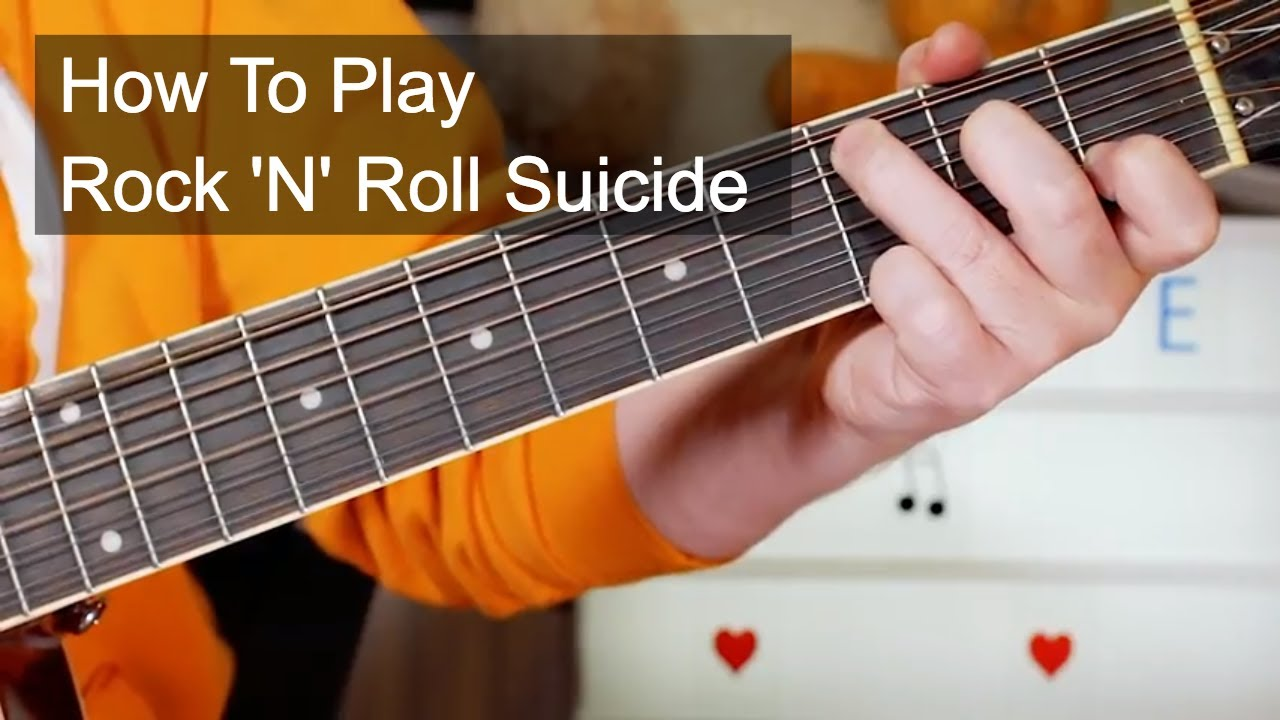 Rock Roll Suicide David Bowie Acoustic Guitar Lesson Youtube