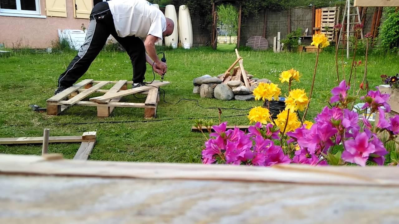 Patio En Bois De Palette astuce pour enlever les clous des palettes :daniel jamin