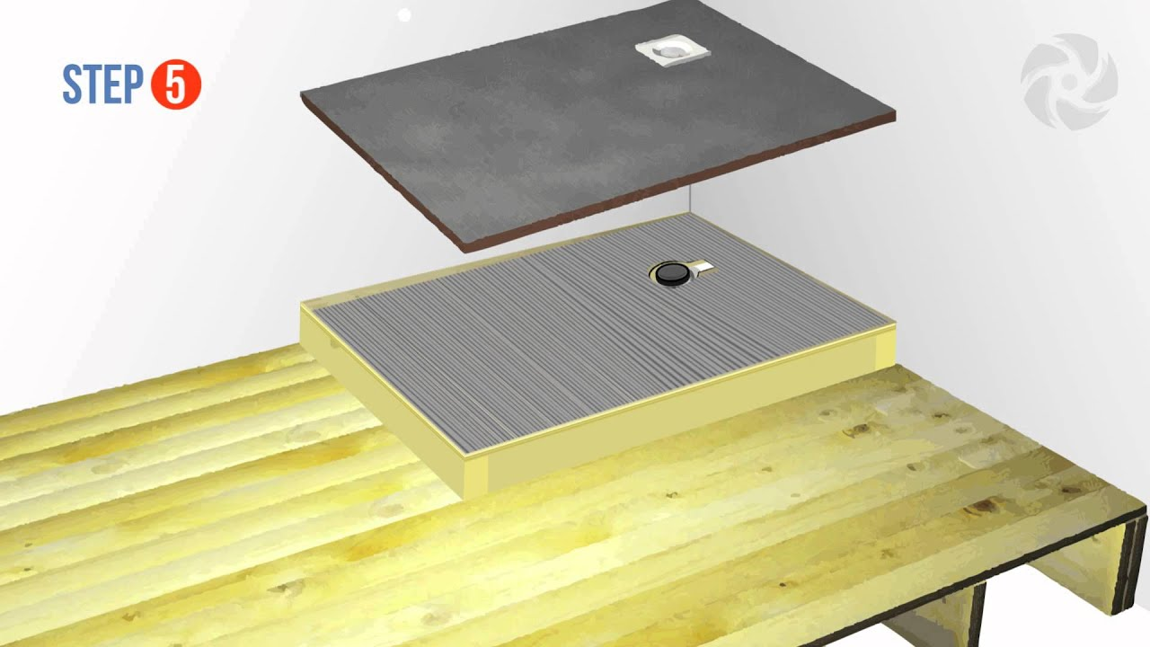 Installing a Raised Wetroom Base on a Wooden Floor ...