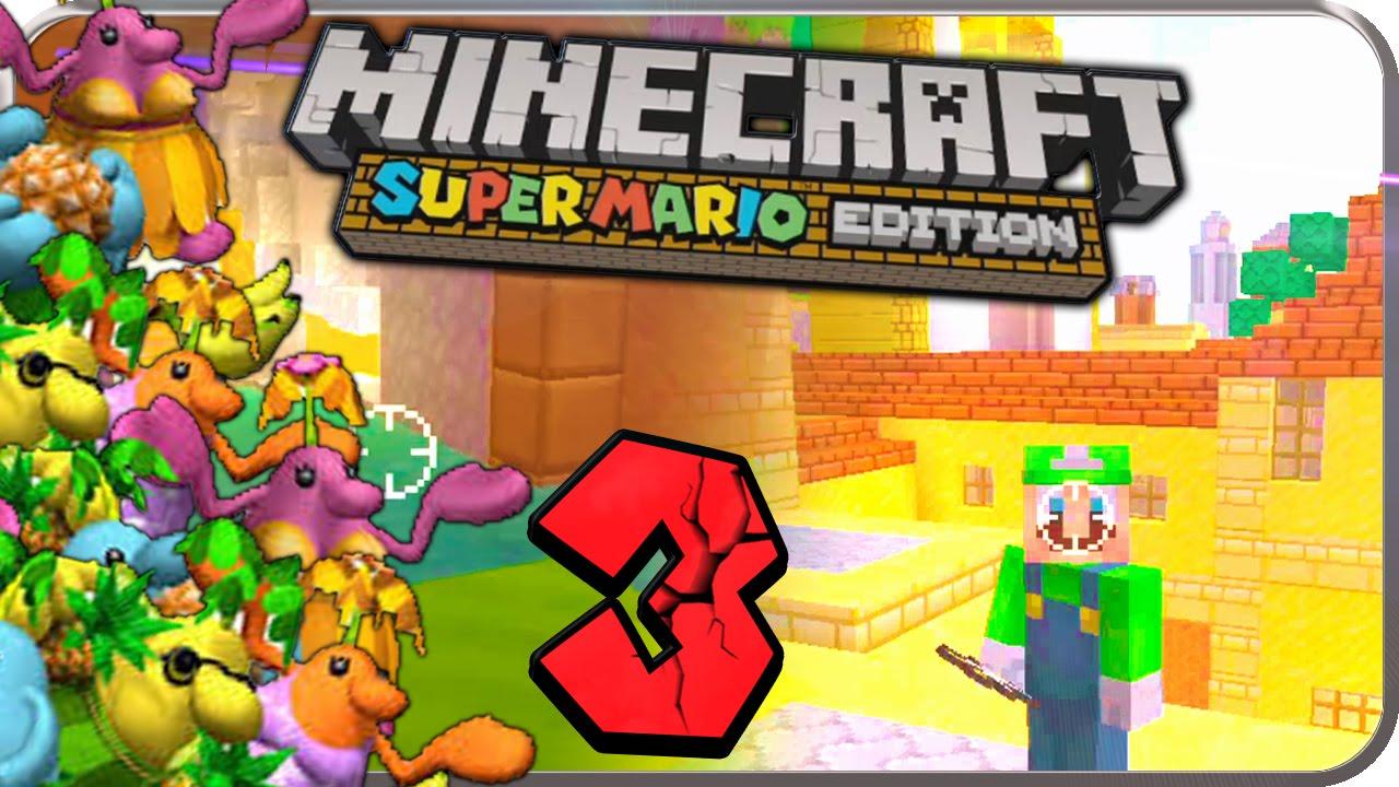 Lets Play MINECRAFT SUPER MARIO EDITION Part PIAZZA DELFINO - Minecraft nutzliche spielerkopfe