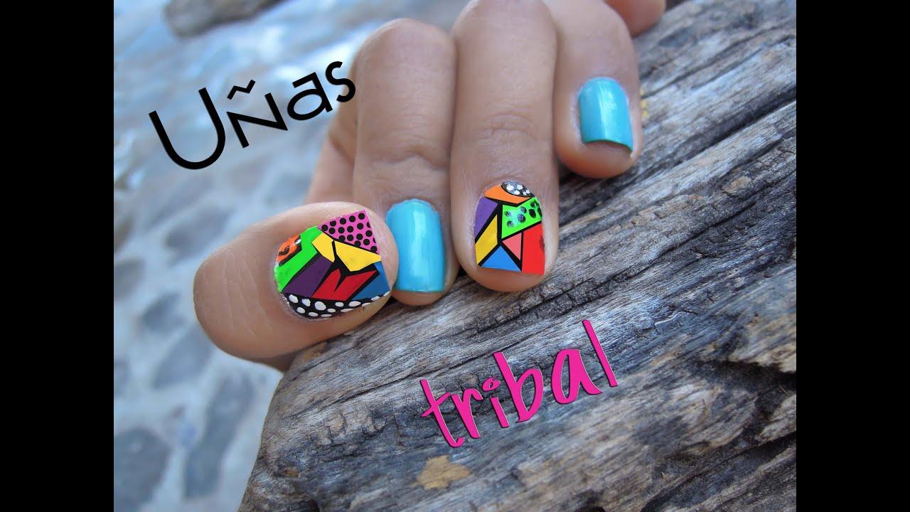 UÑAS TRIBAL - YouTube