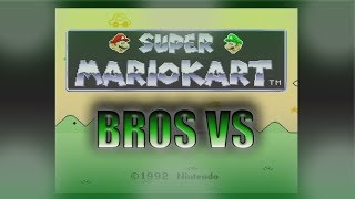 Super Mario Kart: 100cc All Cups. Bros Vs the World!!