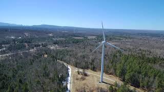 Birds Eye View of Altona NY's Wind Farm