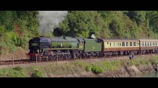 Torbay Express Clan Line by drone 09 09 18 4k