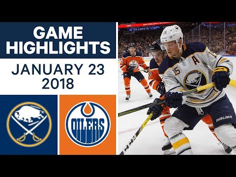 NHL Game Highlights | Sabres vs. Oilers — Jan. 23, 2018