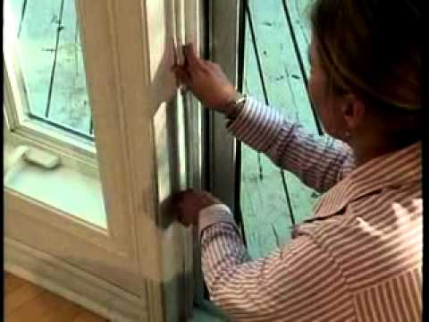 Patio Door Transparent Vinyl Sheeting Installation