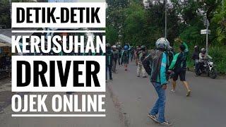 Video Kerusuhan Driver Ojek Online di Terminal Laladon, Bogor.