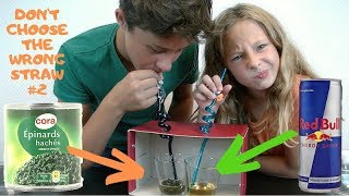 DON'T CHOOSE THE WRONG STRAW CHALLENGE Partie 2