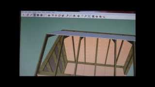 How To Draw A Shed In Sketchup Part 5