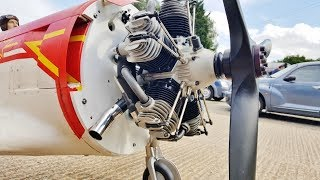 FIRST RUN UP - MOKI 400cc 5 CYL RADIAL - 1/3 SCALE RC YAKOVLEV YAK 11 - PHIL NOEL - 2017