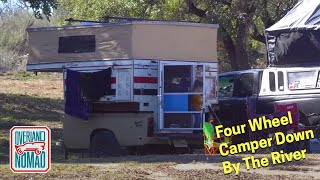 Texas Winter Camping - Camṗing In A 1981 Four Wheel Campers
