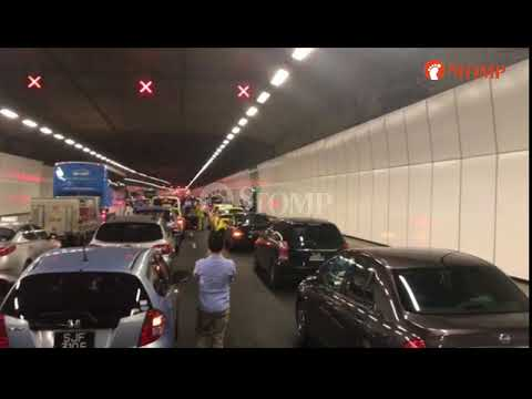 Taxi on fire in KPE tunnel: Explosion caught on video