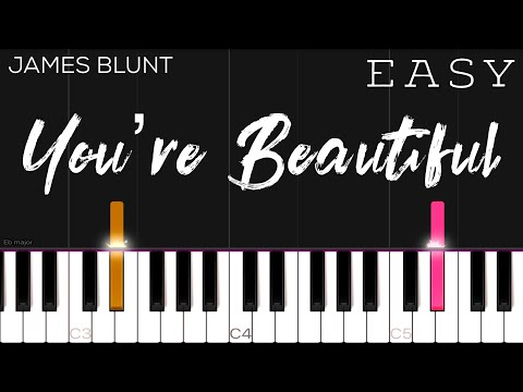 James Blunt - You're Beautiful | EASY Piano Tutorial