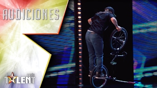 Wow! This BMX Freestyle is not bad at all | Auditions 5 | Spain's Got Talent 2017