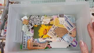 Craftroom Organization, sorting out my Ephemera.