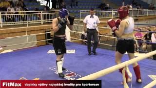 Kick box WC Szeged 2014   K1  70kg, Krstic SRB vs Dovalová SVK