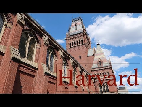 Touring Harvard University in Cambridge Massachusetts