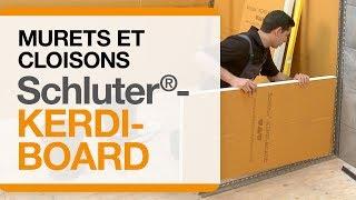 Comment construire des murets et des cloisons avec des panneaux Schluter®-KERDI-BOARD