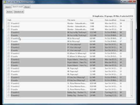 How to find duplicate mp3 files and remove them