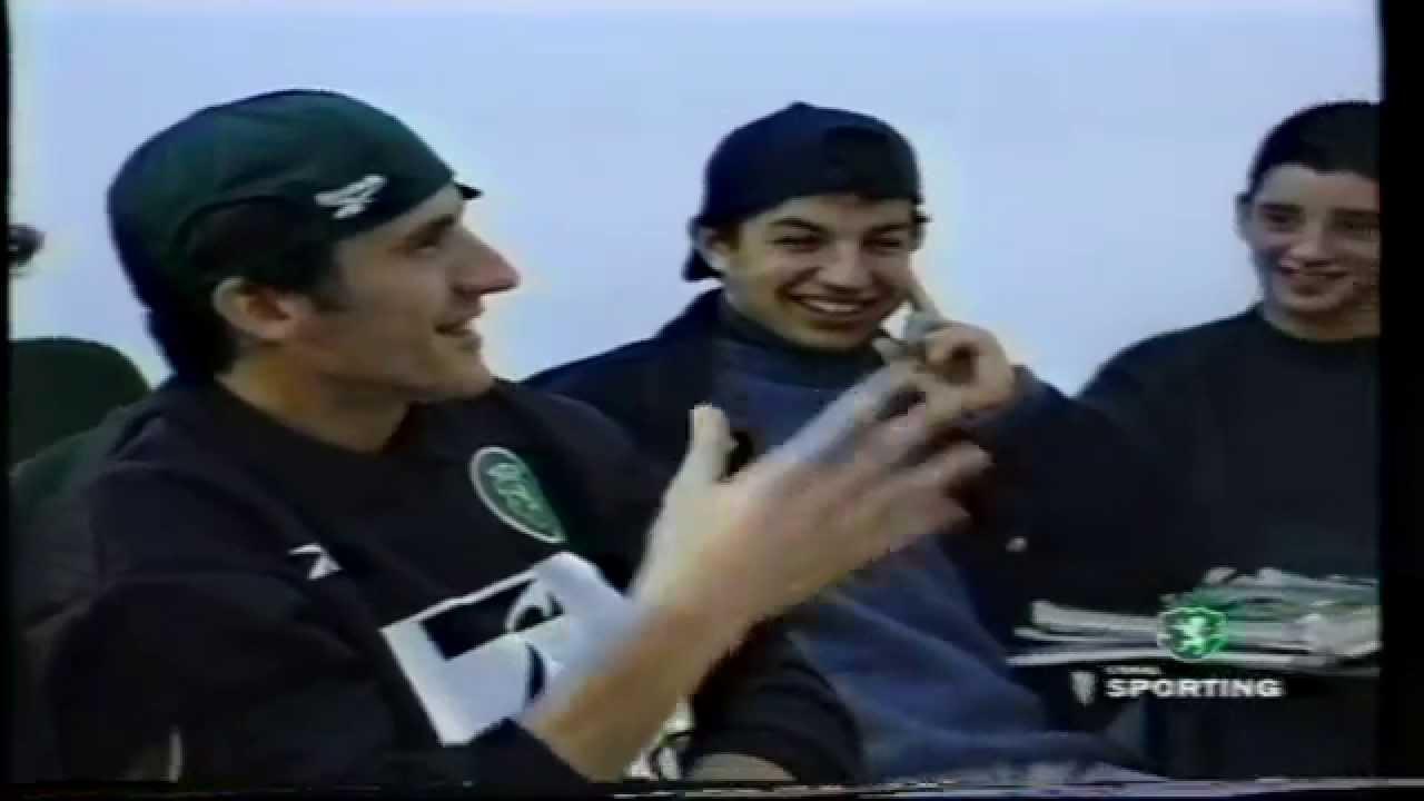 As Lições de Nélson Necas em 11/02/1999 com Cristiano Ronaldo (14 anos)