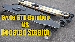 Evolve GTR Bamboo vs Boosted Stealth Board Review - Which is electric skateboard is best ?