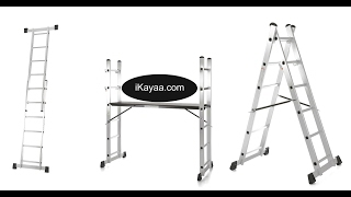 iKayaa 4 in 1 DIY Multi Purpose Step Ladder Scaffold