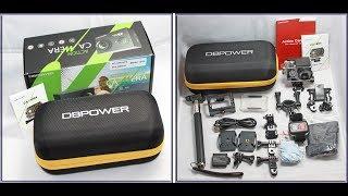 dbpower wifi sport action camera 4k 16mp ultra hd waterproof underwater camera