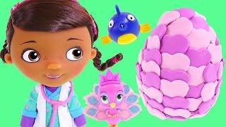 Doc McStuffins Singing and Talking Vet Doll *** Disney Junior Play Doh Surprise Egg