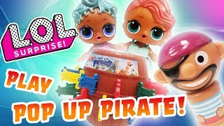 LOL Surprise Dolls Play Pop Up Pirate and it's Bath Time! With Treasure, Precious, & Bath Fizzies!