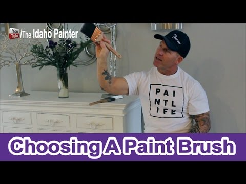 Choosing A Good Paint Brush.  HOUSE PAINTING TIPS.
