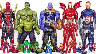 Marvel Infinity War Avengers bigger and smaller transform! Hulk, Thanos, Spider Man! | DuDuPopTOY