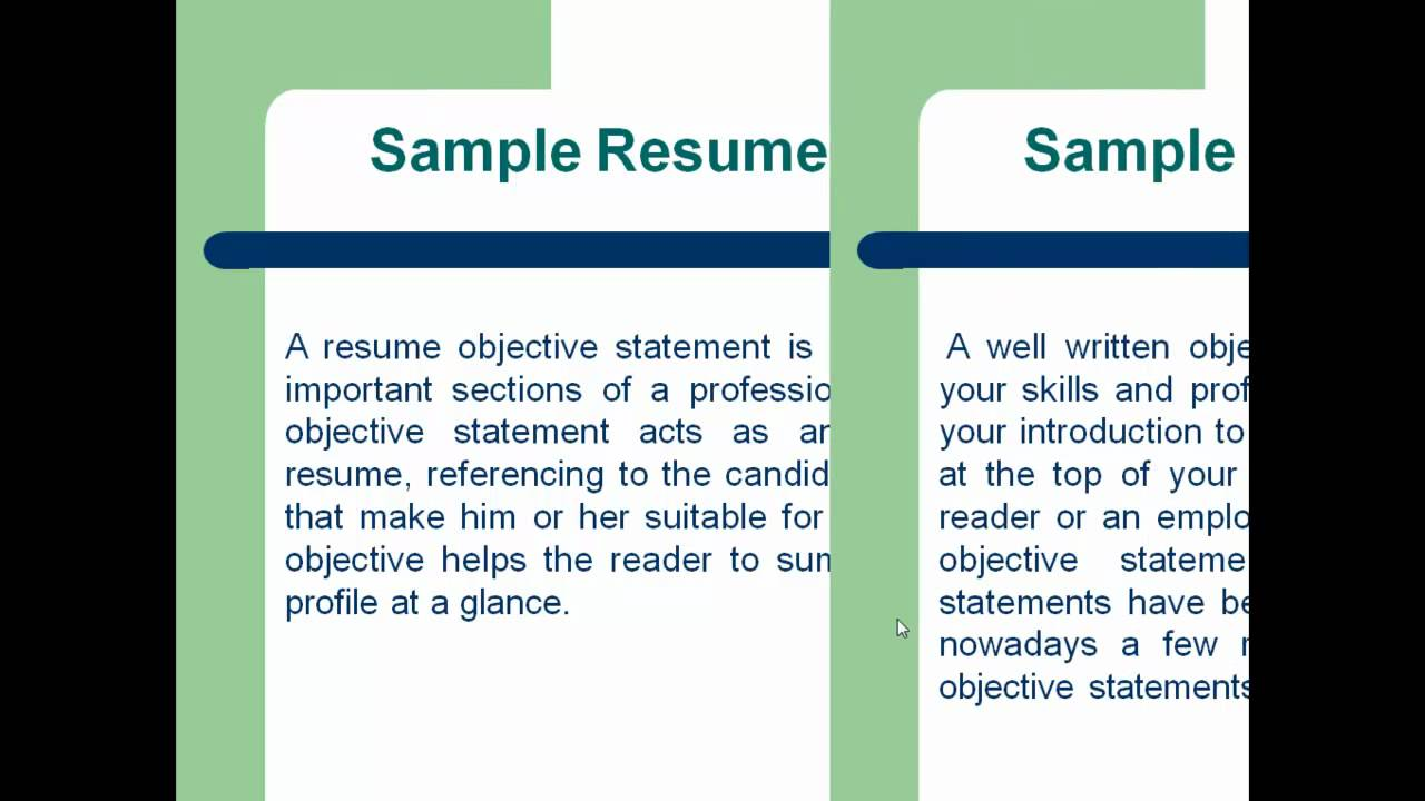 How To Write A Resume That Will Get You An Interview Sample Resume How To Write A Resume Objective Statement