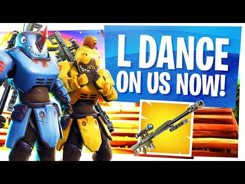 L DANCE ON US NOW - Abusing the broken Heavy Sniper till they nerf it - Fortnite