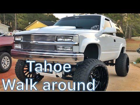 Walk around of my lifted 1998 2 door Chevy Tahoe!