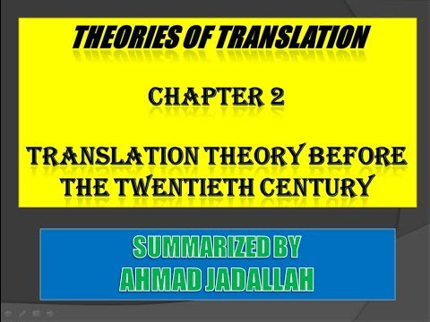 Introducing Translation Studies (Theories and applications) Jeremy Munday - Summary of Chapter 2
