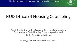 HUD Office of Housing Counseling Grant Administration Webinar - 6/25/15
